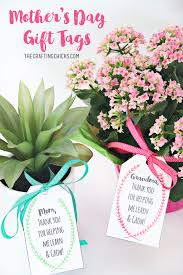 mother u0027s day plant printable gift tags the crafting