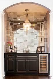 Diamond Pattern Antiqued Mirrored Backsplash Tiles Kitchens - Mirror backsplash