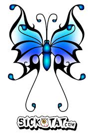 tribal blue butterfly tattoo design photo 3 2017 real photo