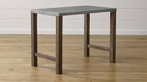 dining room high tables galvin 48 metal top high dining table reviews crate and barrel