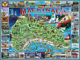 map of mackinac island mackinac island mi jigsaw puzzle puzzlewarehouse com