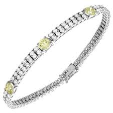 diamond bracelet ladies images Antique style ladies diamond bracelet 9 50 carat fancy yellow jpg