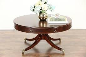 drum coffee table furniture on sale rectangle mahogany rustic