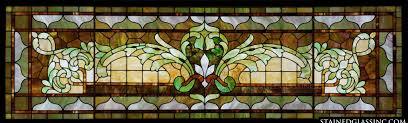 antique stained glass transom window decorative transom window