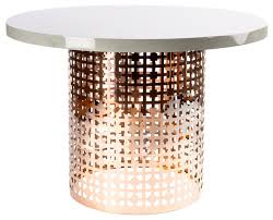 dior dining table rose gold and white contemporary dining