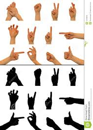 hand signs stock photography image 12768532
