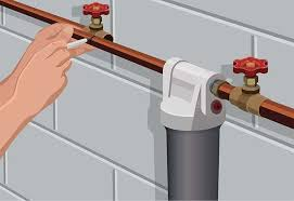 installing a whole house water filter at the home depot