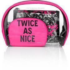 victoria 39 s secret lace cosmetic bag trio