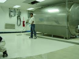 installation of general polymers epoxy flooring greenville nc