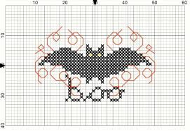 bat cross stitch pattern do small things with