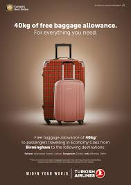 United Airlines Baggage Info Turkish Airlines Baggage Allowance From Birmingham