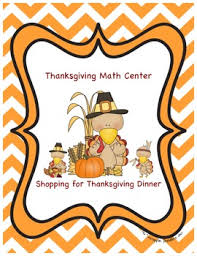 thanksgiving math activity shopping for thanksgiving dinner tpt