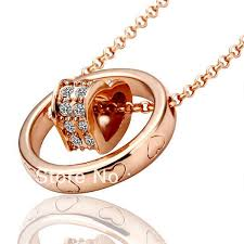 locket necklace aliexpress images Ln028 rose gold color austrial crystal pave heart link pendant jpg