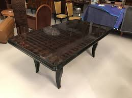 french art deco dining table with brass hardware and spectacular