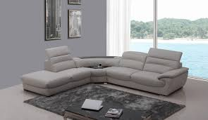 living room grey leather sectional sofa vig divani casa with grey