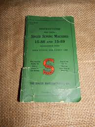 vintage antique instruction manual singer sewing machine 15 88