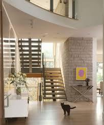 Hallway Storage Ideas Brick Accent Wall Idea Feat Modern Staircase Design Plus Beautiful