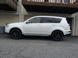 outlander mitsubishi 2011 pics of aftermarket wheels on my 2013 outlander gt mitsubishi