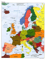 european countries on a map europe european countries map for of northern and capitals