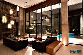 nighttime modern elegance with transparent layers at villa kiani