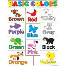 list of colours basic colors chart kool child