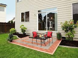 patio multicolor paver cheap patio floor ideas with black iron