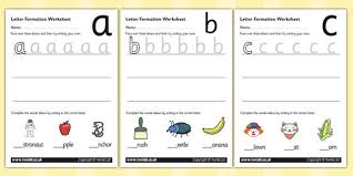 letter formation worksheets a z handwriting letter formation