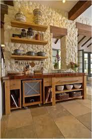 mur deco pierre photo mur en pierre cuisine avec ilot