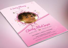 baby funeral program pink princess funeral program template publisher inspiks