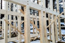 hand build architectural wood framework model house timber frame hand made house sws group