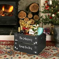 personalised christmas eve crate christmas eve crates and xmas
