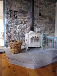 how to build a stone veneer wood stove backing stone veneer