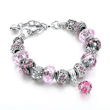 silver plated charm bracelet images Crystal beads bracelet w silver plated charm shop local communities jpg