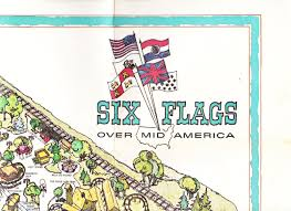 Six Flags New England Map by Garage Sale Finds Six Flags Over Mid America 1971