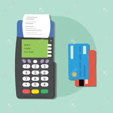 pre pay card pay credit card merchant machine debit tools isolated ecommerce