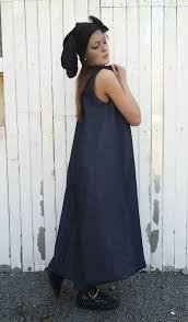 denim dress blue jean dress denim maxi kaftan