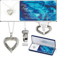necklace with ring holder images Between these angel wings heart wedding ring holder necklace 73 jpg
