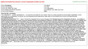 integrated circuit layout designer cover letter