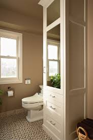 Linen Closet Cabinet Double Bathroom Vanities With Linen Closet - Floor to ceiling cabinets for bathroom