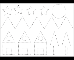 5 best images of tracing shapes printables preschool shapes