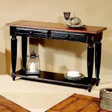 progressive furniture country vista two tone storage sofa table