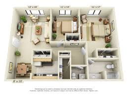 One Bedroom Apartment Floor Plans by Floor Plans Pricing