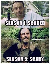 Walking Dead Memes Season 5 - season 1 vs season 5 imghumour