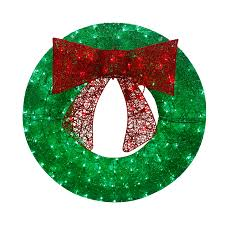 Decorated Christmas Wreaths Artificial by Shop Artificial Christmas Wreaths At Lowes Com