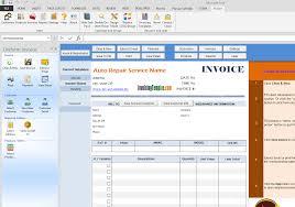 auto repair invoice template order excel autorepai saneme