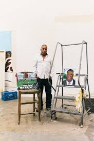 in the studio with the artist who painted jay z the new york times