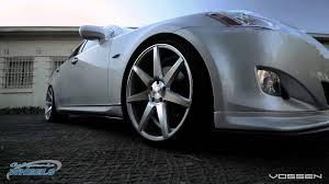 lexus factory wheels lexus is 350 on vossen cv7 wheels by california wheels youtube