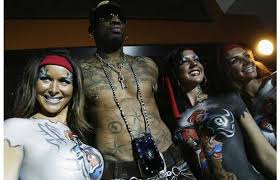 former nba star dennis rodman hosts the launch of captain morgan