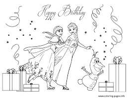 frozen cast ice skating colouring coloring pages printable