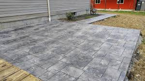 Stamped Concrete Patios Pictures by Diy Stamped Concrete Deck To Patio U2013 Part 2 U2013 Bonded By Wood U0026 Glue